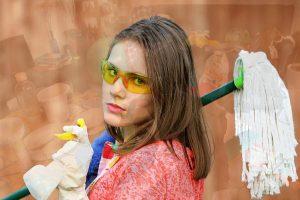 Skorzystanie z usług firmy sprzątającej